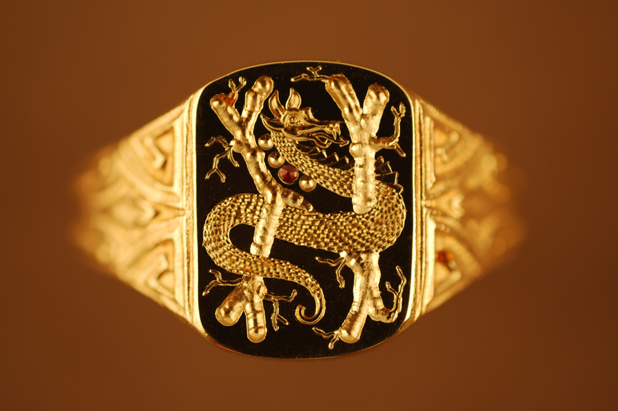 M Letter In Ring G.M. Bentley Designs, ...